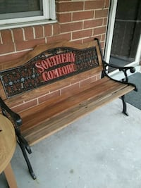 black and brown metal Southern Comfort bench Norfolk, 23513