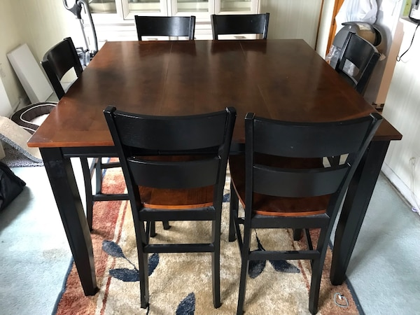 54 X Wide 35 1 2 Dark Cherry Wood Dining Table Including