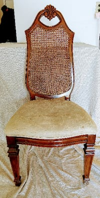 Vintage wicker back chair Woodbridge