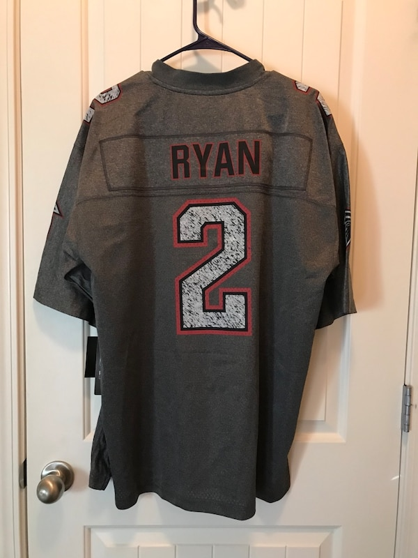 new style 6dbba 40a50 Gray and white NFL Matt Ryan jersey