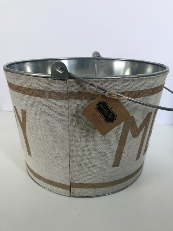 New w/Tags!  MUD PIE Holiday Metal Beverage Bucket Party 2