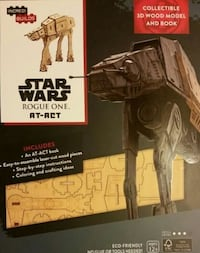 Incredi-Builds Star Wars Rogue One AT-ACT 3D Wood Model. NEW. Geek Fue