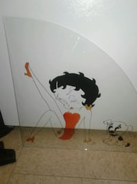 Betty boop stained glass art