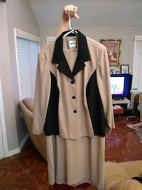 white and black button-up coat Houston, 77041
