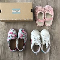 Toms Girls Tiny Shoes Carter's Toddle Sneaker 7