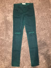 Teal high waisted jeans
