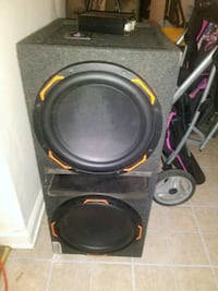 black and red subwoofer speaker Virginia Beach, 23451