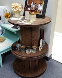 Wooden Spool Shelf Norfolk
