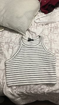 white and black stripe tank top Halifax, B3R 2E8