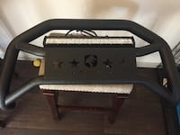 F150 brush guard with LED light and wiring kit