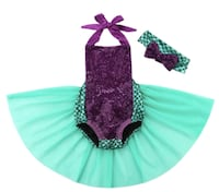 halloween 2Pcs/Set! 2018 Baby Girls Sequins Tutu Summer Mermaid Baby Rompers One-Pieces Multi Color Toddler Baby Bikini Clothing Richmond