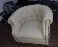 Tufted beige club chair with stud accents Alexandria, 22312