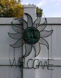 Metal Celestial Sun Welcome Sign Maple Shade Township, 08052