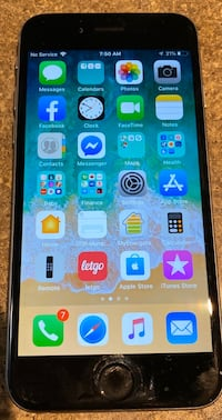 iPhone 6 - 64 gig space grey- unlocked with two Lifeproof cases.