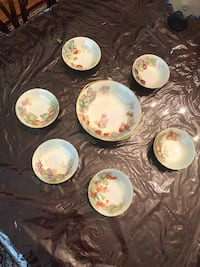 Rosenthal Bavaria Hand painted Berry set Great Falls
