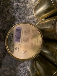 Small Golden Tin Tea Containers Surrey