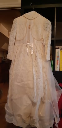 Confirmation Vintage White Lace Dress Girl Female Vaughan