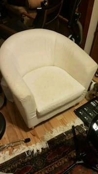 Ikea white cushion chairs (pair)  Toronto, M6P