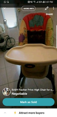 baby's white and brown highchair Mississauga, L4W 3S8