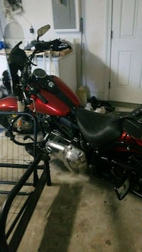 red and black cruiser motorcycle Palm Coast, 32137