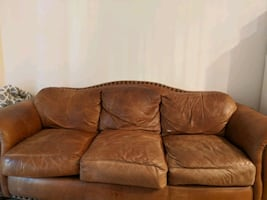 Leather couch - large - best offer