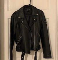 7 For All Mankind Leather Jacket Falls Church