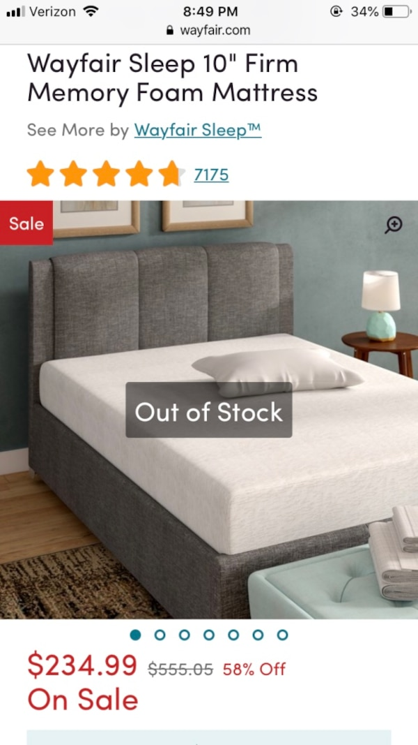 Used 10 Memory Foam Queen Mattress For Sale In San Francisco Letgo