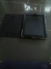 black iPad with smart case