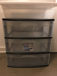 Plastic 3 chest draw, plastic storage container 페어팩스, 22033