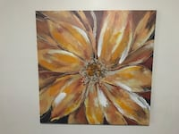 brown and white flower painting Montreal