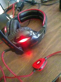 Red neon gameing headset West Haven, 84401