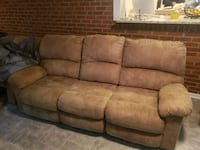 Sofa that reclines and 1 individual recliner Pikesville, 21207