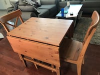 IKEA drop leaf table with two chairs 26 mi