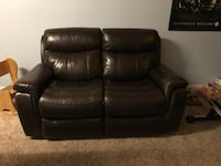 2 brown leather loveseats Knoxville, 37912