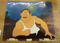 """LENNY THE COP """"HEY GOOD LOOKIN"""" ANIMATION CEL WITH BACKGROUND Baltimore, 21205"""