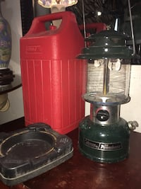 Vintage Coleman power house lantern and case
