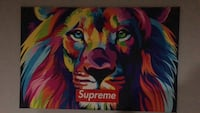Supreme lion painting