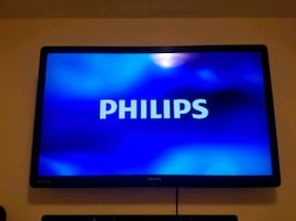 "50"" Philip's tv works perfect. Original remote included."