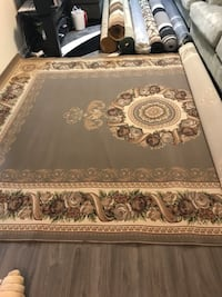 brown and white floral area rug Mississauga