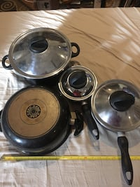 Cookware set 4 pots with vented tops