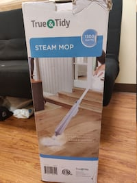 True & Tidy STM300 Multi-Surface Steam Mop with Bonus Accessories - Gray City of Industry