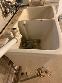 Antique 1940's Double Laundry Sink with Stand Washington, 20016