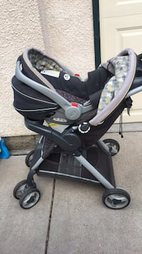Stroller with car seat and base, smoke free/pet free house. Must pick up. Solid on the price so don't ask:)