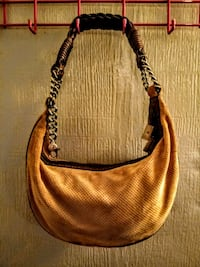 women's brown leather sling bag Springfield, 65804