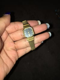 round gold-colored analog watch with link bracelet Costa Mesa, 92627