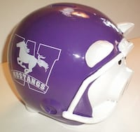 Western Mustangs Football Helmet Ceramic Piggy Bank by Forever Collectibles London