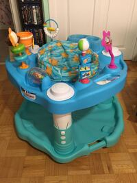 Baby's blue and green jumping bouncer seat activity center Toronto, M1J 2K9