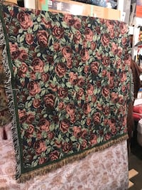 brown and green floral print textile Edmonton, T5M 0S5
