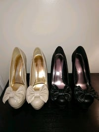 Heels with bow on toes. Size 8.5. $10 each Richmond, 23224
