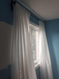 Curtain rod and drapes  Vaughan